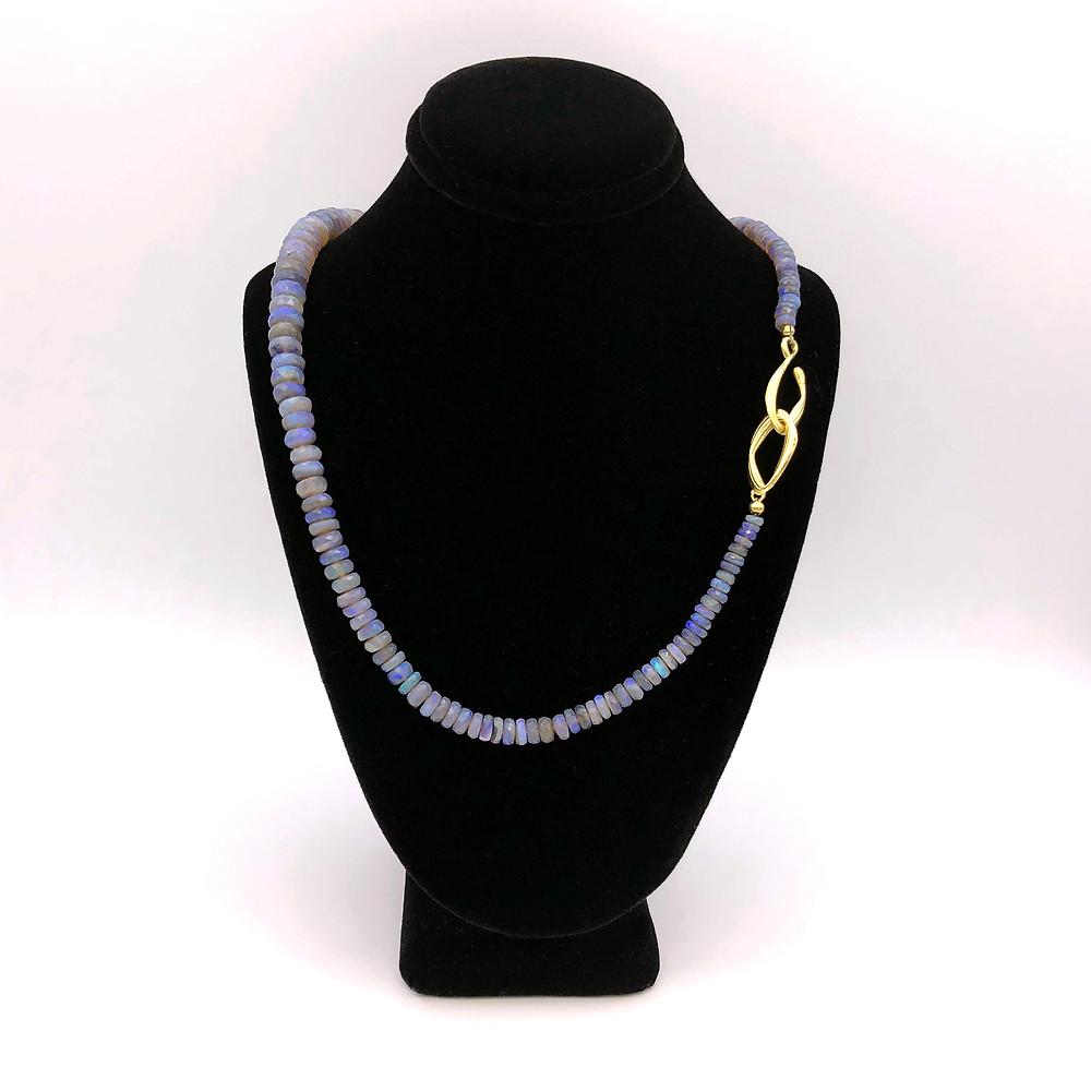 Azores Opal Strand Necklace by Original Eve Designs
