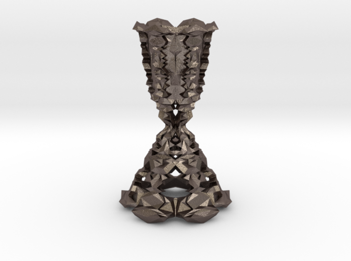 Faceted Candlestick | 3d Printed Steel