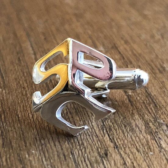 Bespoke Initials Cufflinks in Sterling Silver