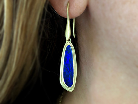 New Releases: Azores Blue Opal Drop Earrings