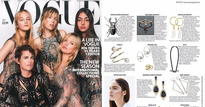 Vogue U.K. Sept 2017: Jewelry Designer Profile