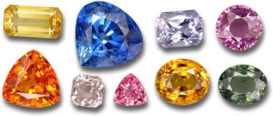 Fancy Color Sapphires (photo: Gem Select)