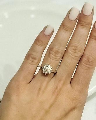Custom Enagement Ring with Old European Cut Diamond