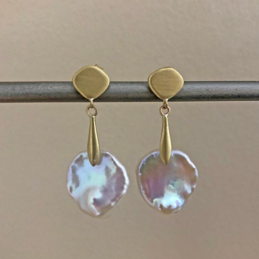 Keshi Pearl Azores Earring | 18k Yellow Gold