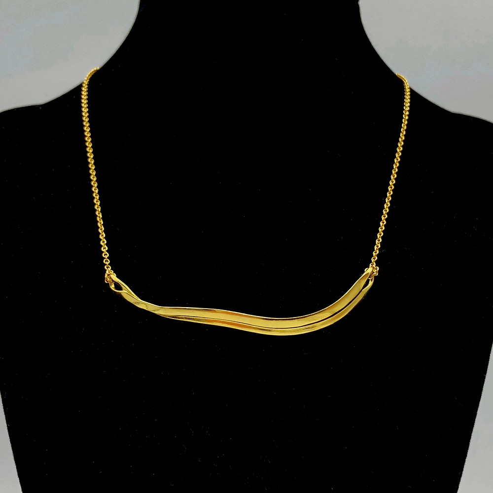 Terraced Ribbon Necklace | 18k Gold
