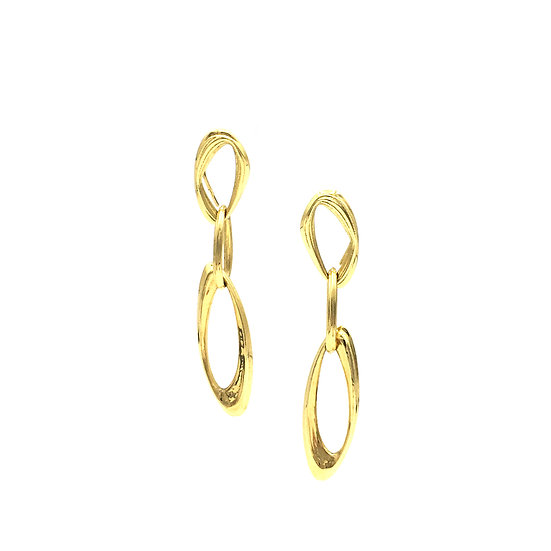 Azores Link Chain Earrings in 18k Recycled Yellow Gold