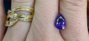 Tanzanite photo by Original Eve with the Terrace Ribbon Ring