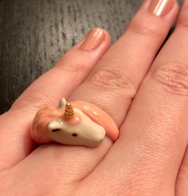 Unicorn Ring -- Custom Diamond and Sapphire Engagement Ring
