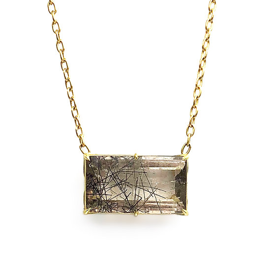 Champagne Tourmalinated Quartz Jungle Necklace | 18k Recycled Yellow Gold