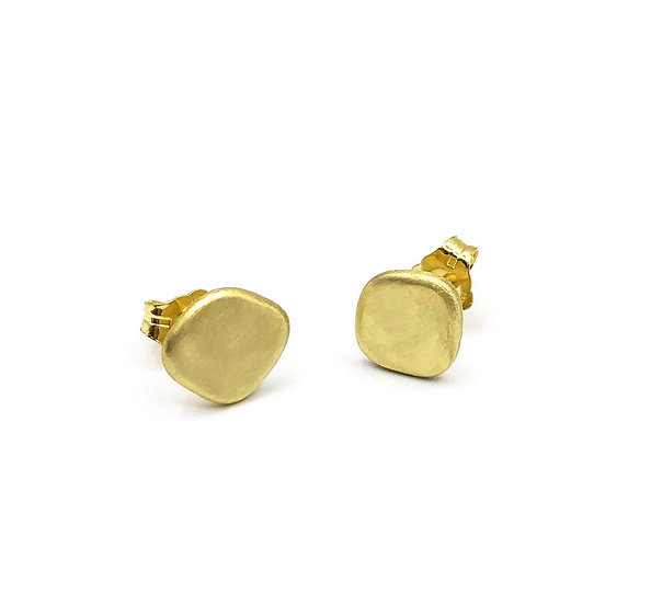 Everyday Gold Stud Earrings | 18k Recycled Gold
