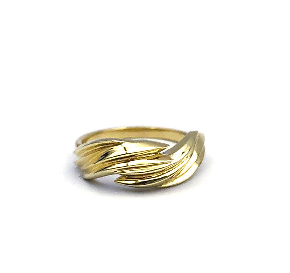 Flame Ring in 18k Recycled Yellow Gold