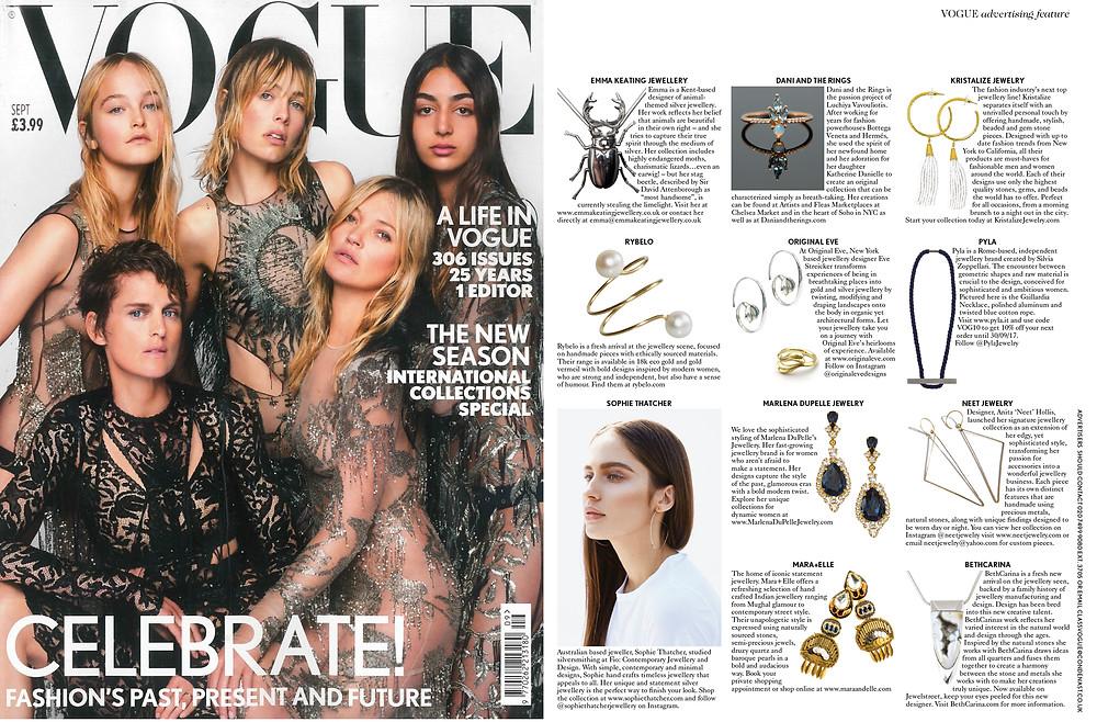 Vogue U.K. September 2017 Issue with Original Eve Designs