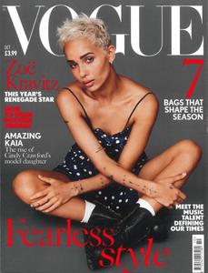 Vogue U.K. British Vogue October 2017 Cover Original Eve Jewelry Original Eve Designs