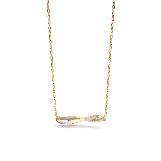 Twisted Pearl Necklace in 18k Recycled Yellow Gold Modern Pearl Necklace