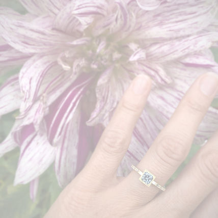 Montana Sapphire Engagement Ring with Baguettes