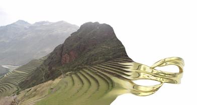 Peru Landscape Becoming Gold Ring