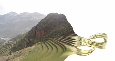 Peru Landscape Becoming Gold Ring