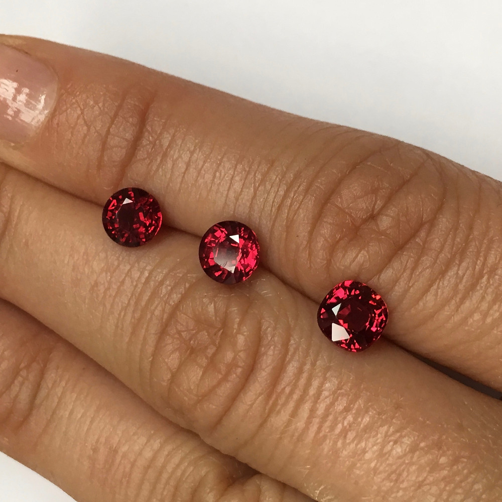 Ruby from Mozambique, 1.04ct, 1.14ct, 1.34ct