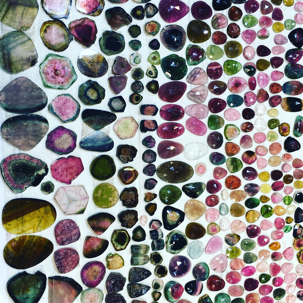 Tourmaline Assortment at the AGTA Tucson Show 2017 Photo Taken By Original Eve