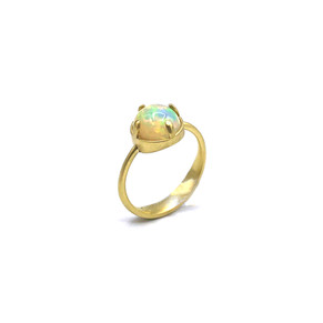 Ethiopian Opal Amazon Ring in 18k Recycled Yellow Gold by Original Eve