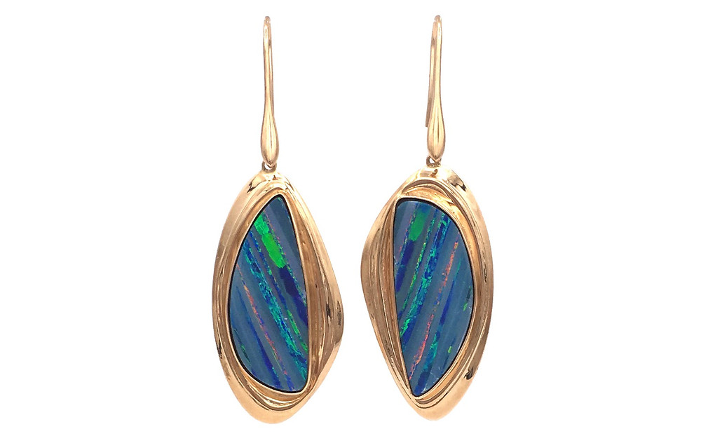 Azores Striped Opal Earrings by Original Eve Designs in the azores Collection