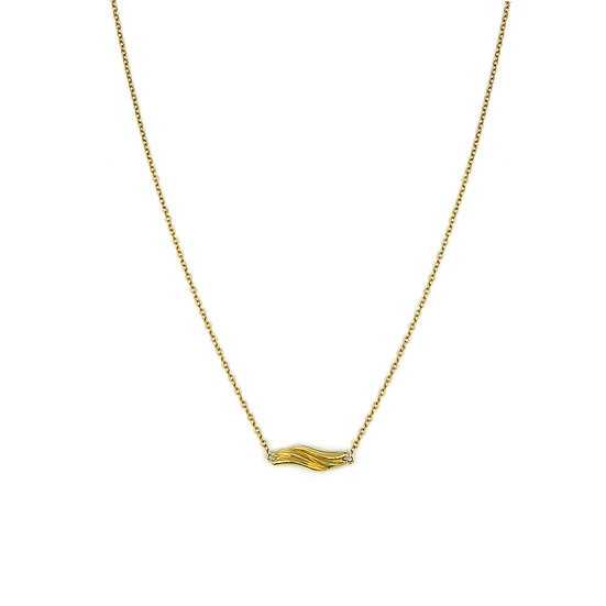Everyday Gold Wave Necklace in 18k Recycled Yellow Gold 16 Inches