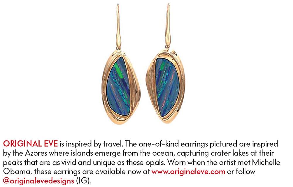 Original Eve Striped Opal Earrings