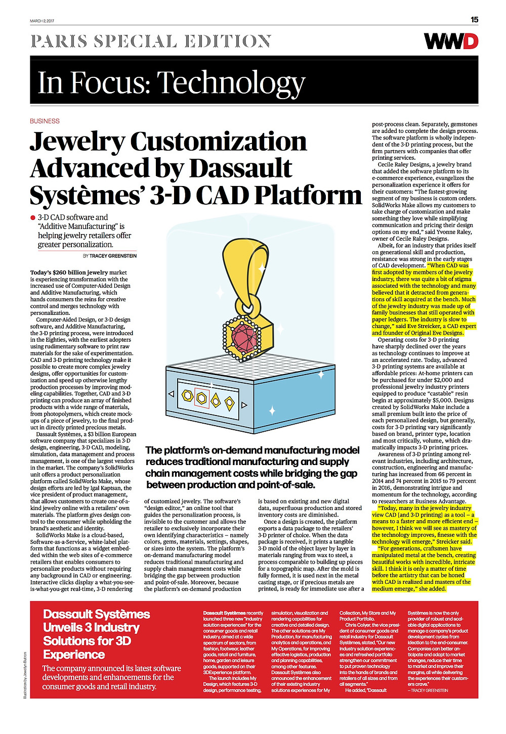 WWD In Focus: Jewelry Customization Advanced 3-D CAD