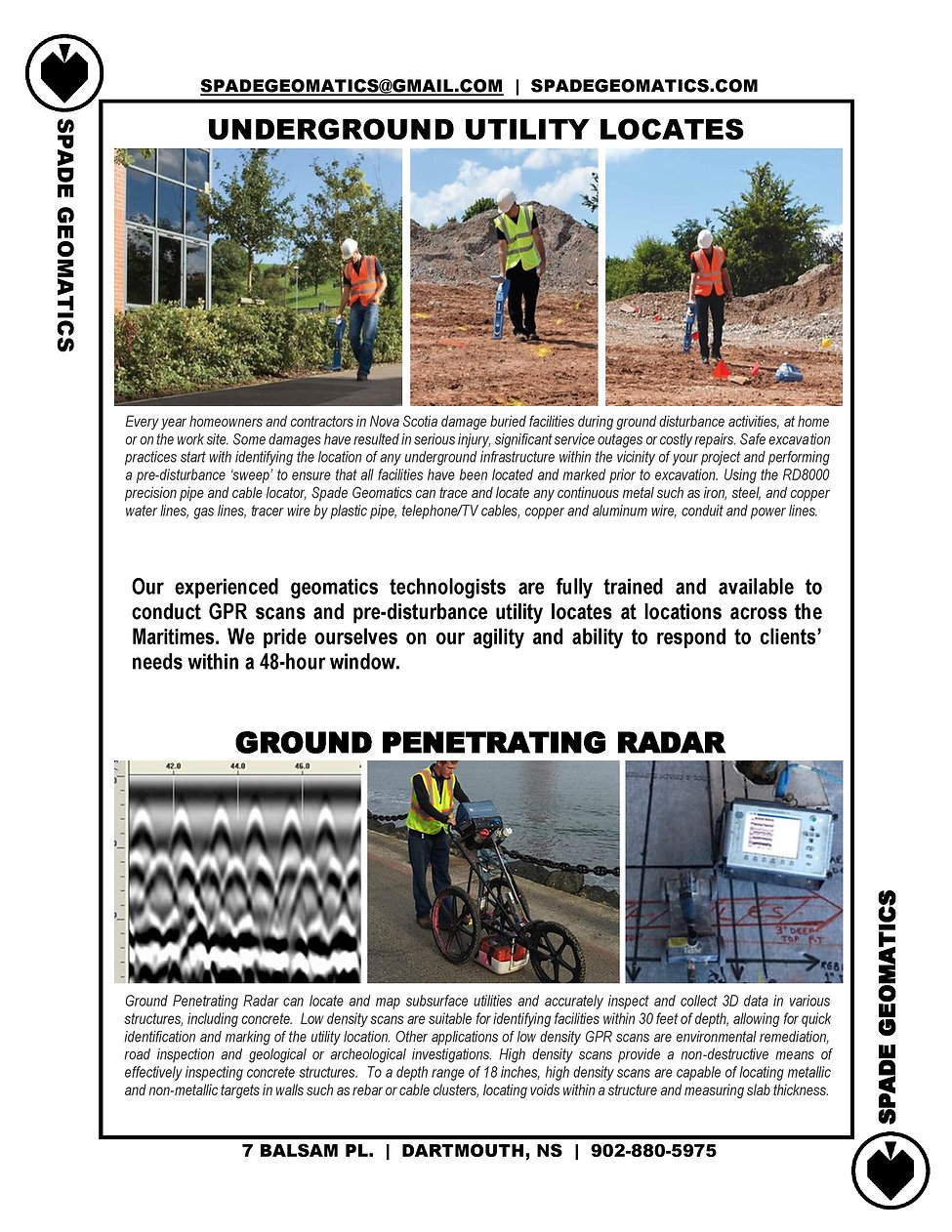 Utility Locates, Ground Penetrating Radar