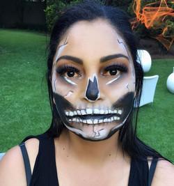 Halloween 🎃👻💀 #makeupartist #makeuptransformation #halloween #halloweeenmakeup #skull #eyelashes