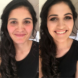Beautiful before and after of Matric Dance makeup I did on this gem💎 _Such a beautiful girl and she
