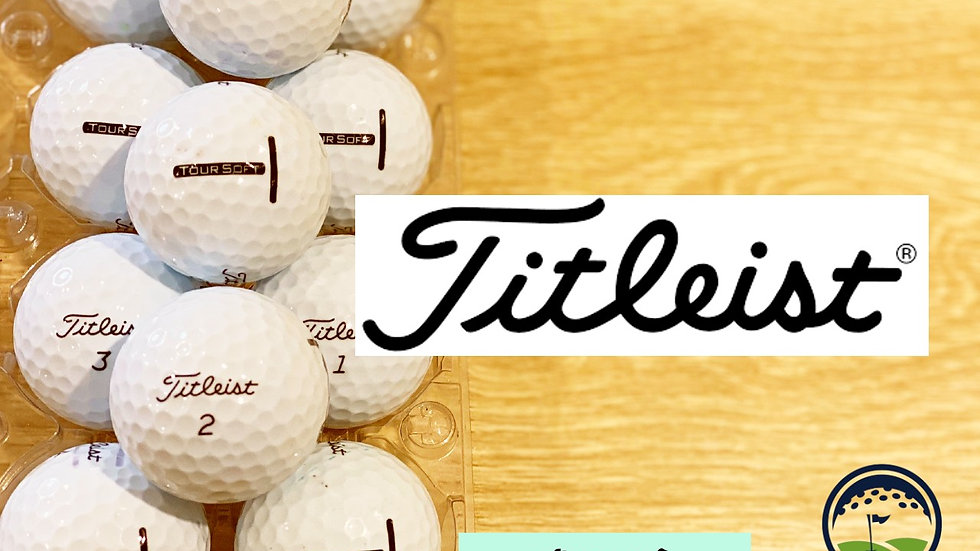 white titleist tour soft discount golf balls