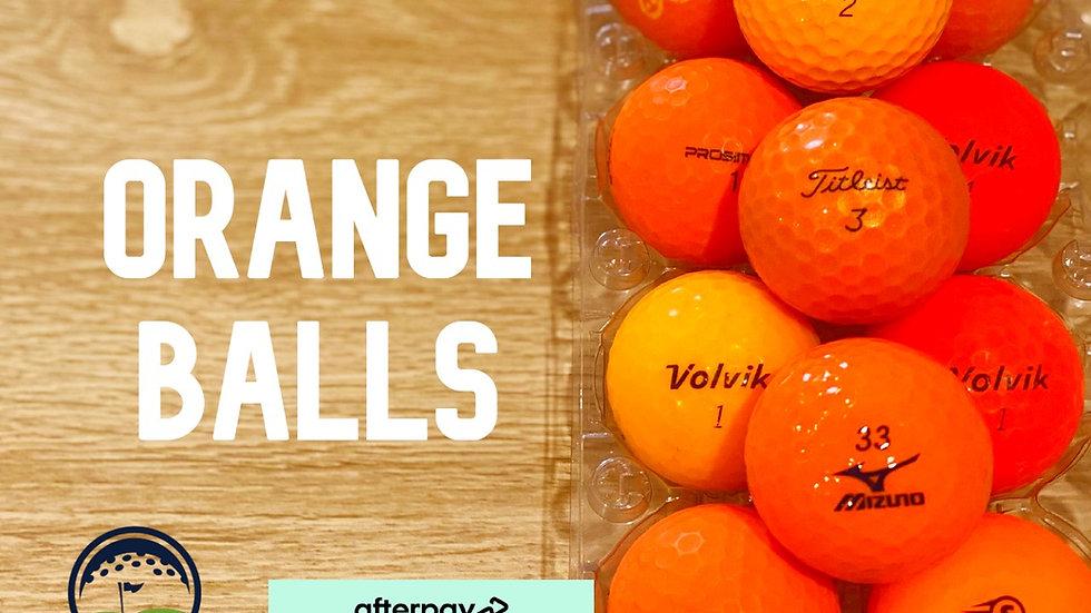 quality orange discount used golf balls