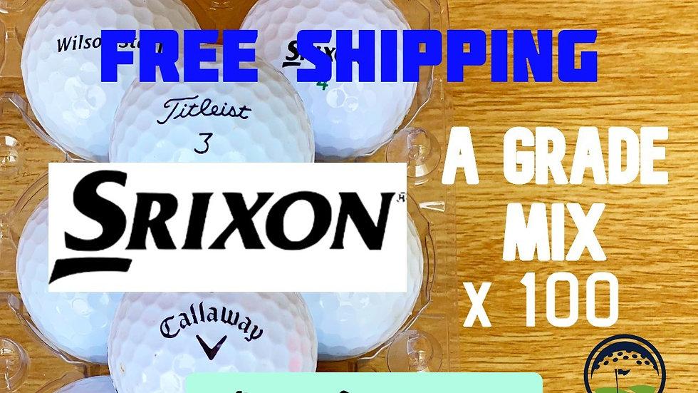 Srixon A Grade Value Mix Bulk x 100