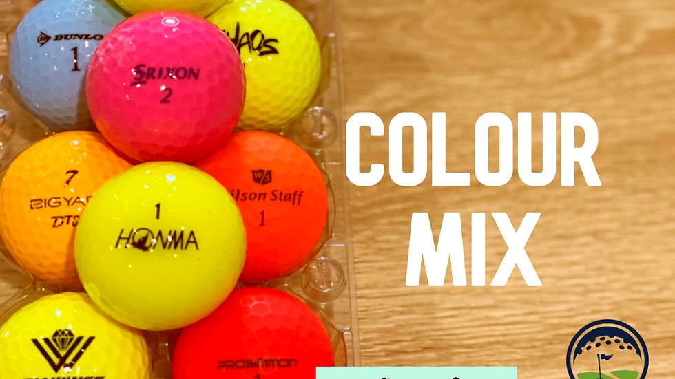 mixed colour quality used discount golf balls