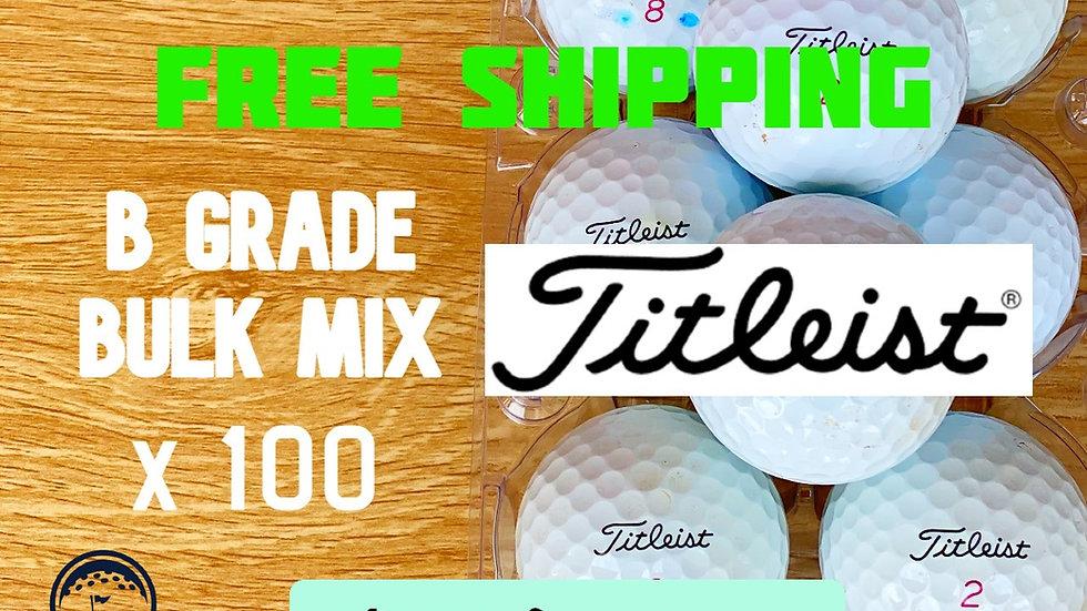 Titleist B Grade Value Mix Bulk x 100