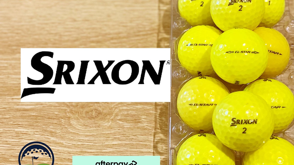 used yellow srixon q star discount golf balls