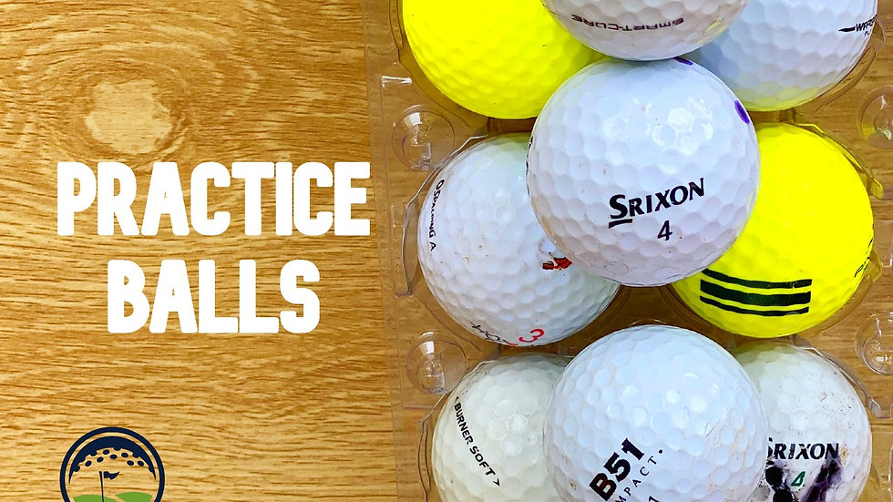Used practice mixed Discount Golf Balls