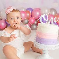Cake-Smash-one-year-old-studio-photograph-pink-balloons