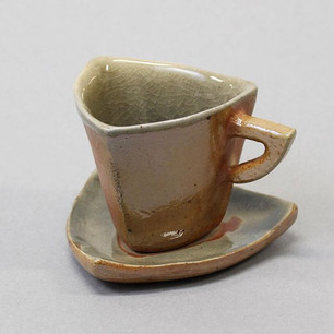 Triangle Espresso Cup with Saucer