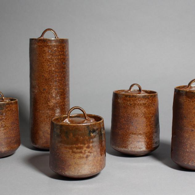 Soda Fired Jars