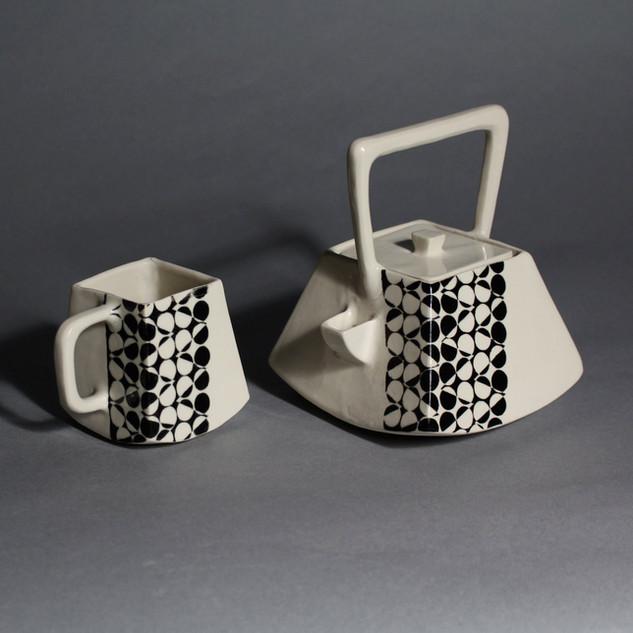 Square Teapot and Mug