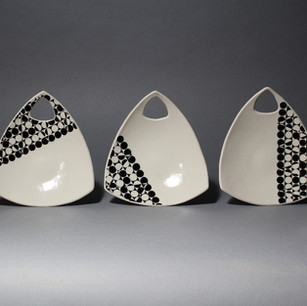 Triangle Snack Plates