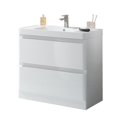 Anzio Vanity and Side Cabinet Set