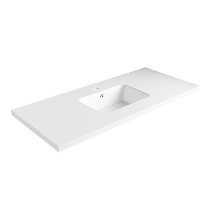 Carrara Solid Surface Vanity Top (SSVT48)