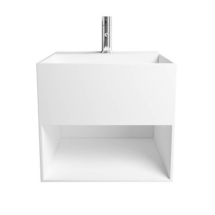 Solid Surface Vanity with Infinity Sink