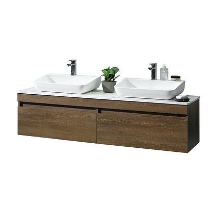 Rovigo Double Vanity with Countertop and Vessel Sink