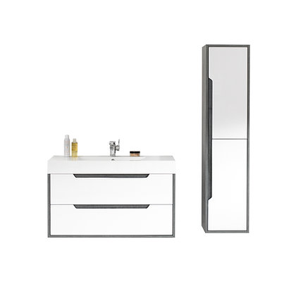 Milano Vanity and Side Cabinet Set