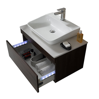 Trani Vanity with Countertop and Raised Sink Basin