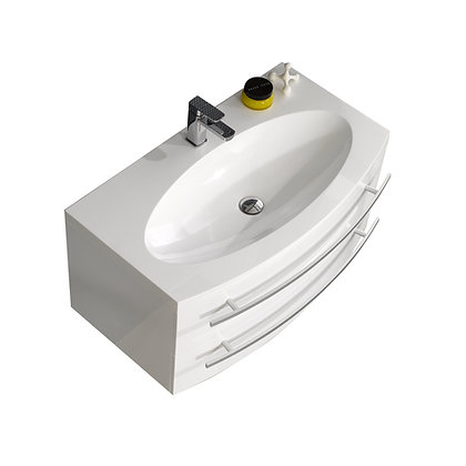 Venice 36 in Vanity with Countertop and Sink Basin